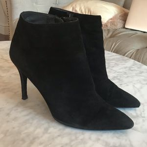 Stuart Weitzman suede pointed toe ankle boots
